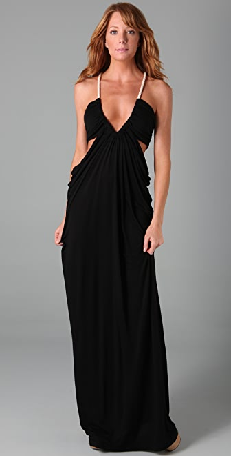 Torn by Ronny Kobo Sharon Solid Long Dress