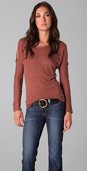 Torn by Ronny Kobo Jules Cut Out Sweater