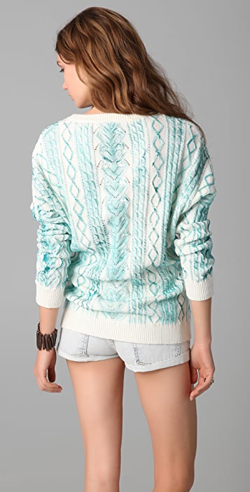 Torn by Ronny Kobo Quincy Hand Painted Sweater