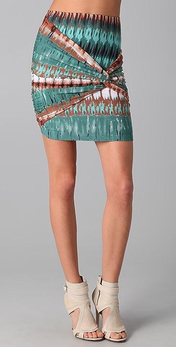 Torn by Ronny Kobo Caden Twist Mini Skirt