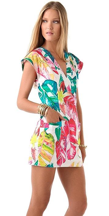 Torn by Ronny Kobo Dina Fierce Jungle Dress