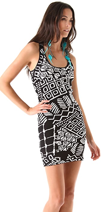 Torn by Ronny Kobo Sammy Tribal Knit Dress