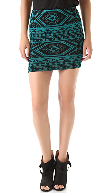 Torn by Ronny Kobo Celine Southwestern Skirt