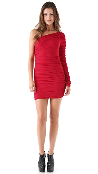 Torn by Ronny Kobo Aidan Ruched Mini Dress