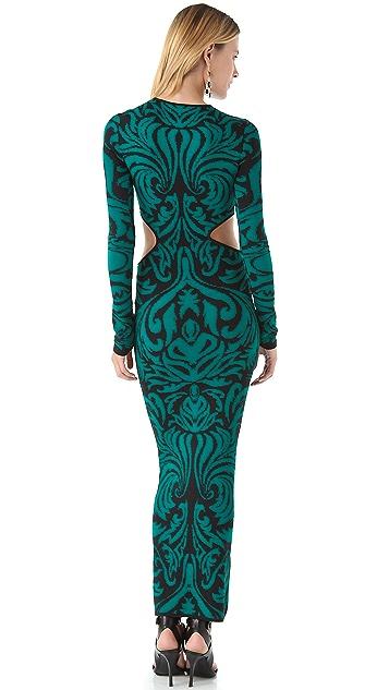 Torn by Ronny Kobo Ellen Baroque Maxi Dress