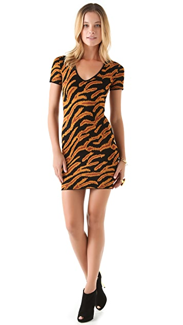 Torn by Ronny Kobo Caterina Tiger Sweater Dress