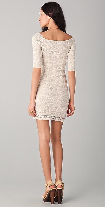 Torn by Ronny Kobo Eva Lace Mini Dress