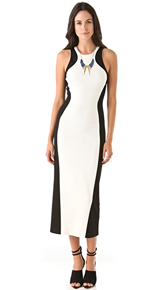 Torn by Ronny Kobo Shiran Panel Dress
