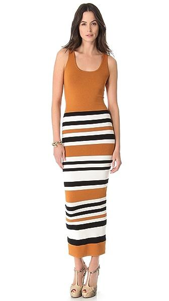 Torn by Ronny Kobo Agatha Cruise Stripes Maxi Dress