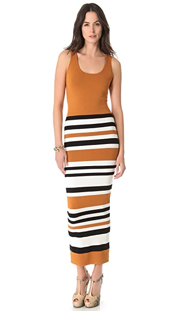 Torn by Ronny Kobo Agatha Cruise Stripes Maxi Dress