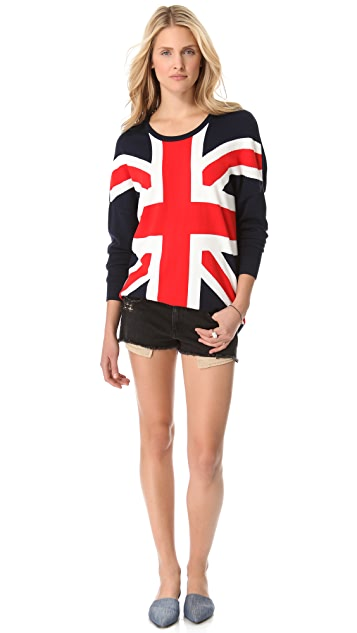 Torn by Ronny Kobo Anthea Union Jack Sweater