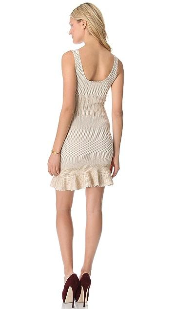 Torn by Ronny Kobo Ines Crocodile Knit Dress