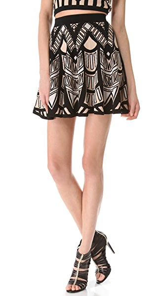 Torn by Ronny Kobo Anabella Mosaic Jacquard Skirt