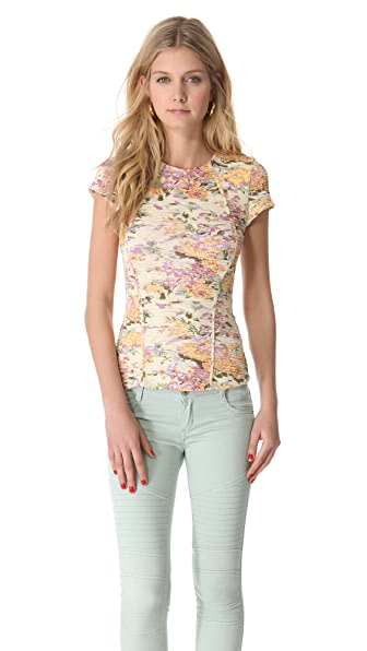 Torn by Ronny Kobo Meytal Pleated Top