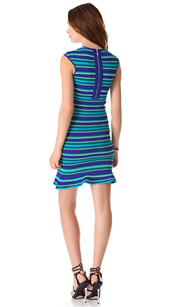 Torn by Ronny Kobo Paz Ottoman Stripes Dress