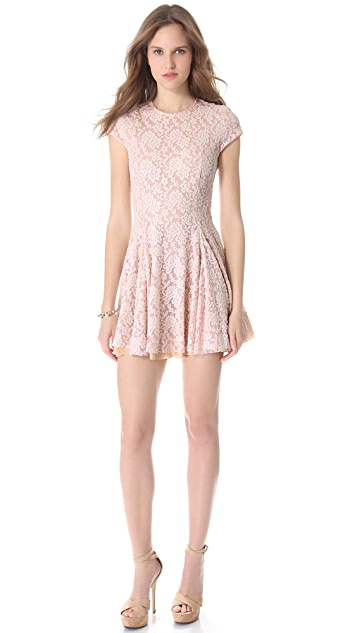 Torn by Ronny Kobo Crystal Lace Dress