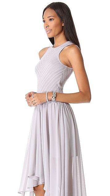 Torn by Ronny Kobo Renae Knit Chiffon Dress