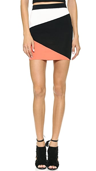 Torn by Ronny Kobo Mali Colorblock Skirt