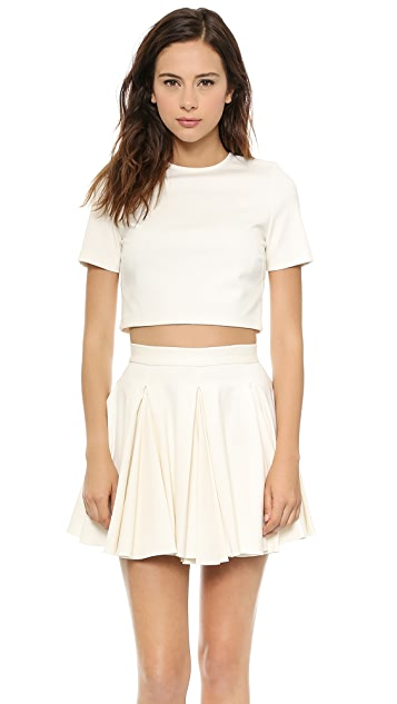Torn by Ronny Kobo Dugan Cropped Ponte Top