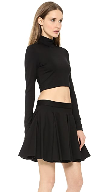Torn by Ronny Kobo Sulan Cropped Ponte Turtleneck Top