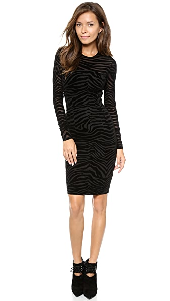 Torn by Ronny Kobo Magnolia Flocked Zebra Dress