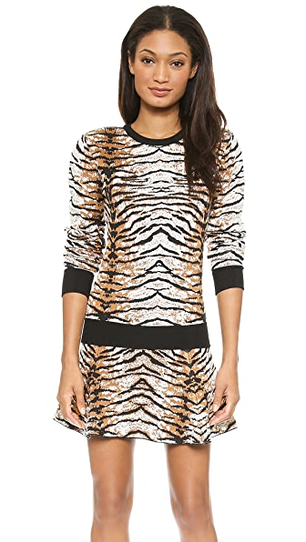 Torn by Ronny Kobo Shauna Tiger Jacquard Sweater