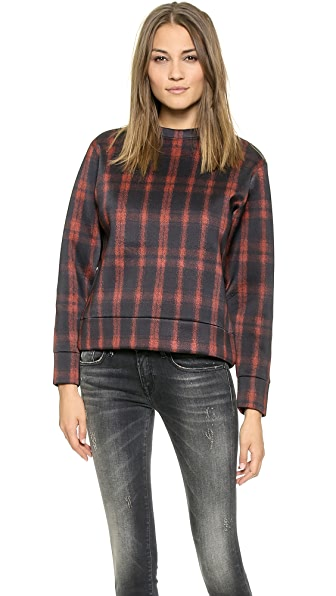 Torn by Ronny Kobo Zemila Photographic Plaid Sweatshirt