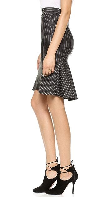 Torn by Ronny Kobo Yulia Pinstripe Skirt