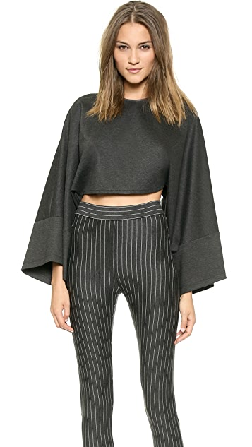 Torn by Ronny Kobo Adil Ponte Crop Top