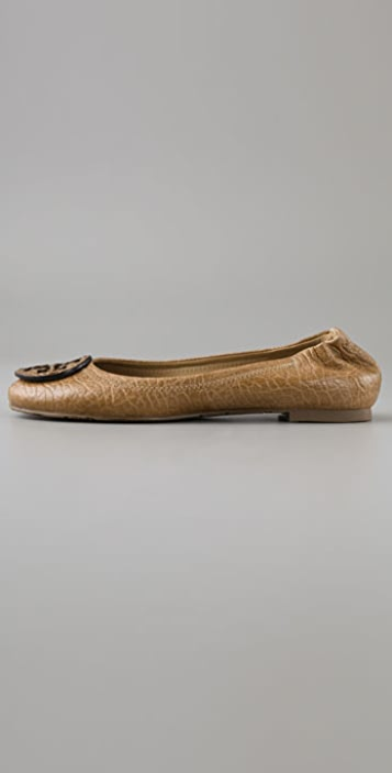 Tory Burch Reva Figueira Leather Flats
