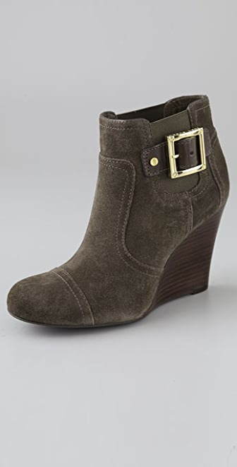 Tory Burch Adrienne Suede Wedge Booties