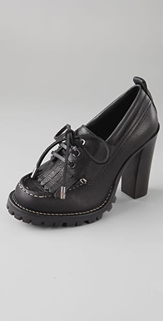 Tory Burch Baxter Lace Up Kiltie Pumps