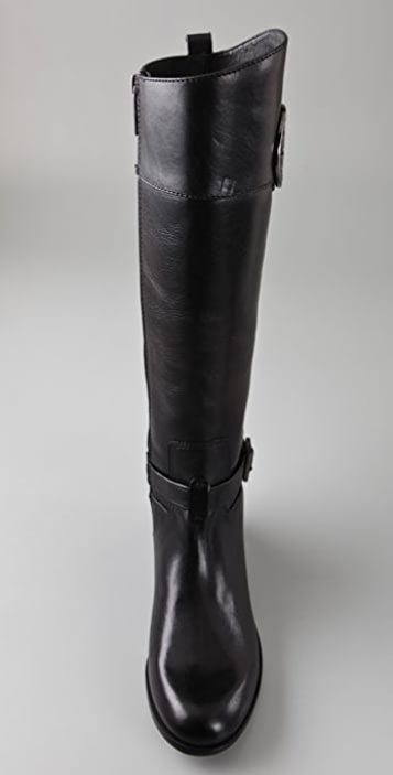 Tory Burch Patterson Logo Riding Boots