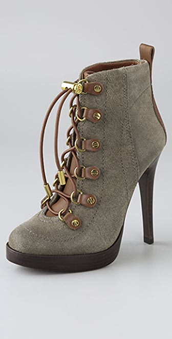 Tory Burch Halima Suede Platform Booties