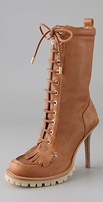 Tory Burch Trigg Lace Up Hiking Boots