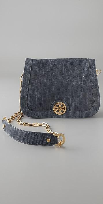 Tory Burch Tory Turnlock Linen Leather Mini Bag