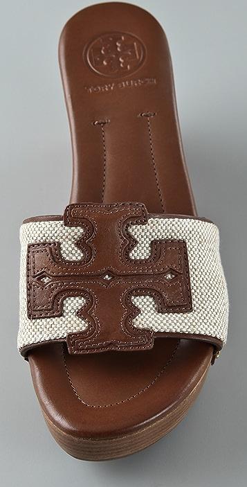 Tory Burch Terri Canvas Slide Sandals