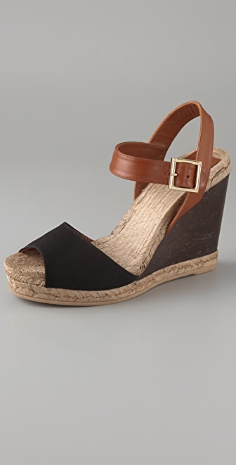 Tory Burch Wooden Wedge Espadrilles