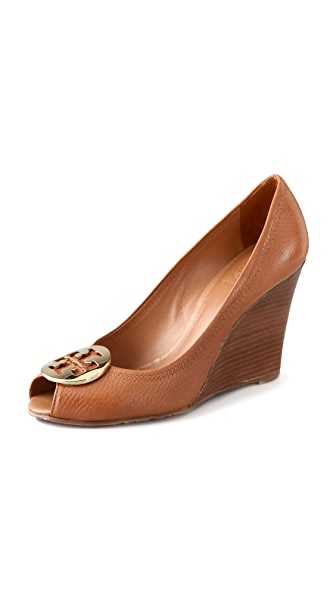 Tory Burch Julianne Peep Toe Wedge Heels