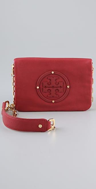 Tory Burch Stacked Logo Reva Clutch