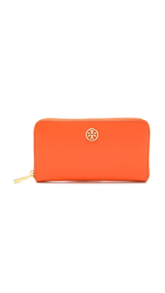 Tory Burch Logo Zip Continental Wallet