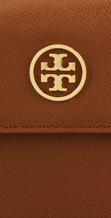 Tory Burch Saffiano Robinson Double Snap Wallet
