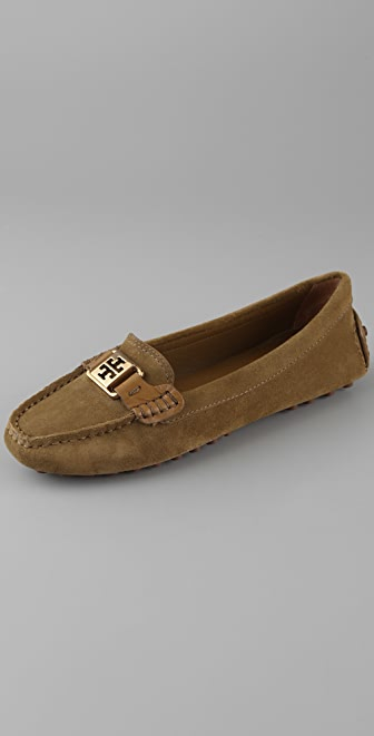 Tory Burch Kendrick Suede Driver Flats