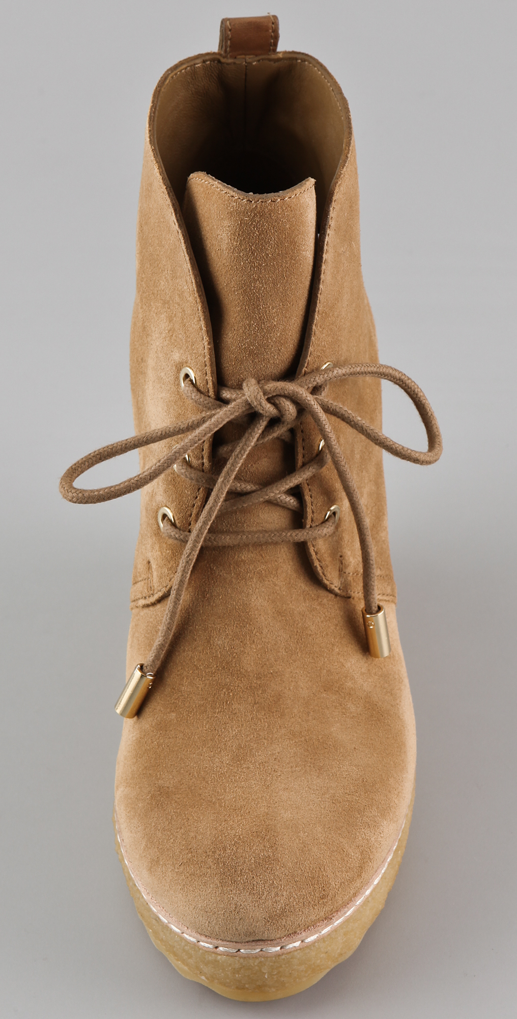 Tory Burch Denise Suede Wedge Booties