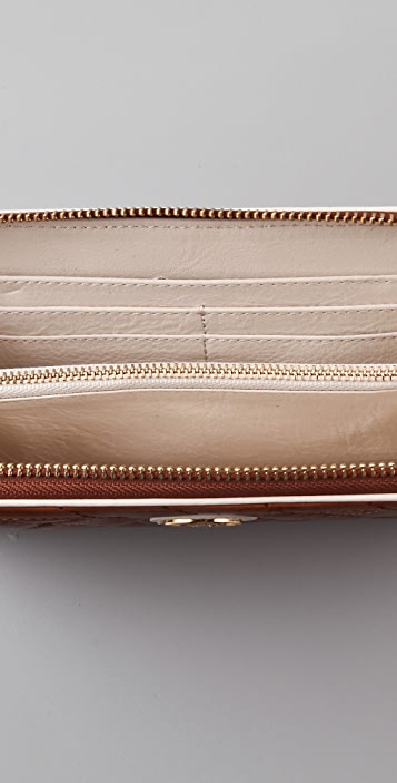 Tory Burch Quilted Zip Continental Wallet