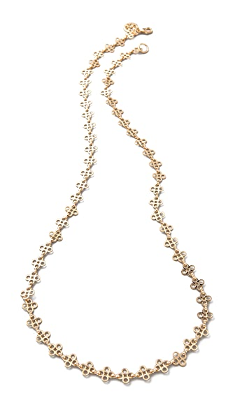 Tory Burch Mini Clover Necklace