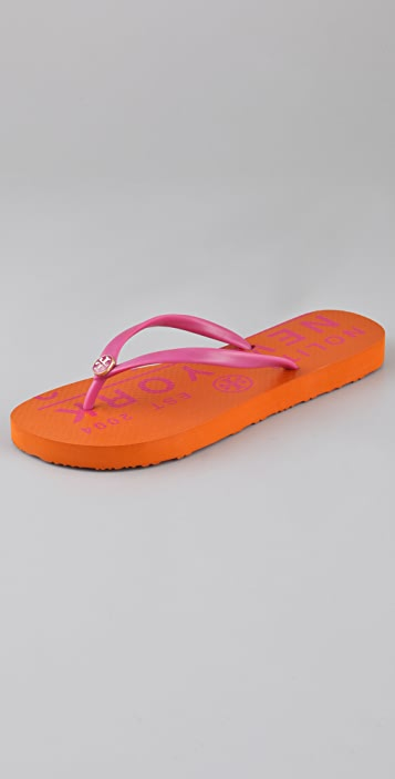 Tory Burch Traveler Flip Flops