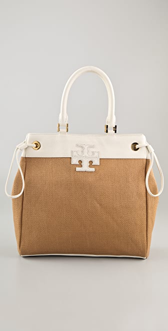 Tory Burch Stacked T Logo Tote