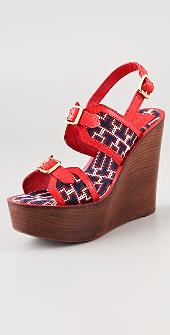 Tory Burch Florian High Wedge Sandals