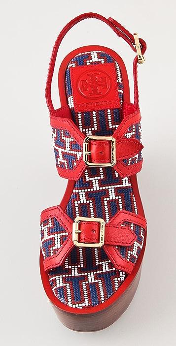 Tory Burch Florian High Wedge Sandals